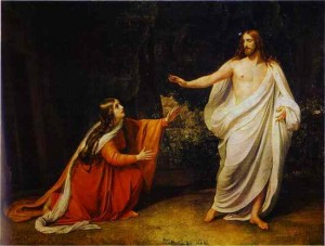 """The Appearance of Christ to Mary Magdalene"" by Alexander Ivanov c. 1835"